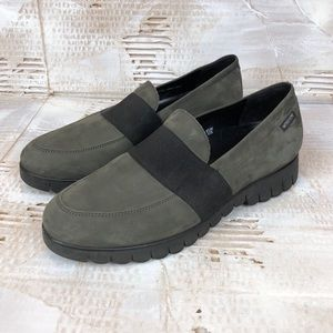 Mephisto Loriane grey suede loafers 8
